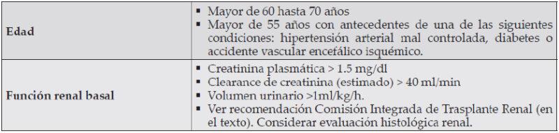 Fig. 4. Criterios para Donante Con Criterio Expandido, Guías Clínicas Sociedad Chilena de Trasplante